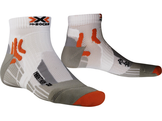X-Socks Marathon - Calcetines Running Hombre - blanco